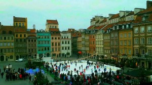 old town Warsaw ice-skating rink