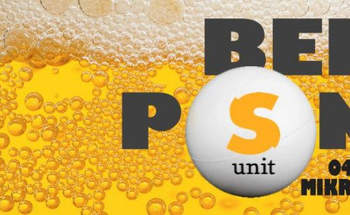 Beer pong evening – S-UNIT